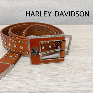 ハーレーダビッドソン(Harley Davidson)のハーレーダビッドソン スタッズ ビジュー レザー ベルト ブラウン M(ベルト)