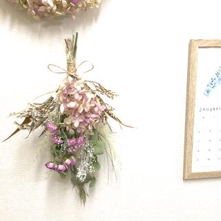 ピンク紫陽花のスワッグ♡ドライフラワースワッグ(ドライフラワー)
