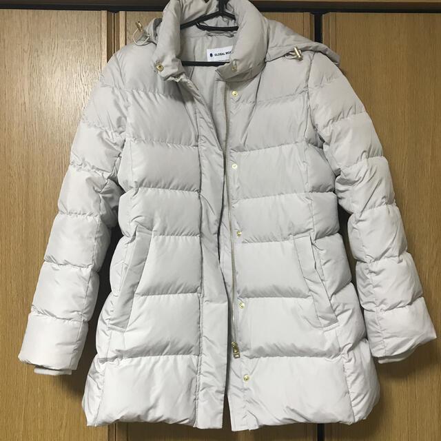 GLOBAL WORK(グローバルワーク)のグローバルワーク ウツクシルエット ダウンコート グレージュ レディースのジャケット/アウター(ダウンコート)の商品写真