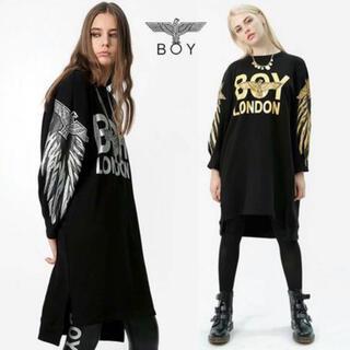 ボーイロンドン(Boy London)の美品 値下げ🔻🔻稀少ボーイロンドン ワンピースGOLD(ひざ丈ワンピース)