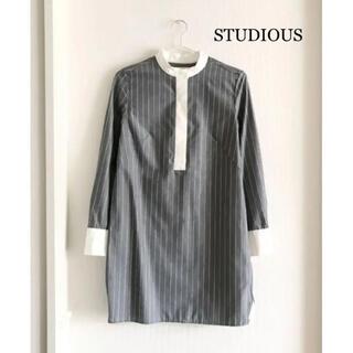 ステュディオス(STUDIOUS)のタグつき未使用美品♡STUDIOUS スタンドカラーシャツチュニック(シャツ/ブラウス(長袖/七分))