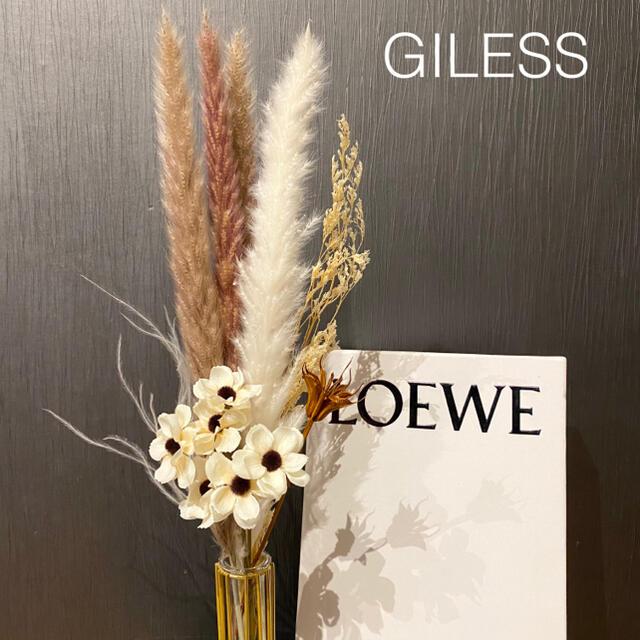 パンパスグラス ブラウン ホワイト インテリア モダン 韓国 北欧 スワッグ ハンドメイドのフラワー/ガーデン(ドライフラワー)の商品写真