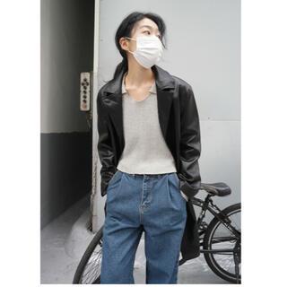 ユニクロ(UNIQLO)の韓国◇レザー◇コート◇ジャケット◇ロング(レザージャケット)