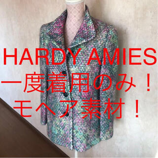 HARDY AMIES - ★HARDY AMIES/ハーディエイミス★モヘア素材!長袖ハーフコート9(M)