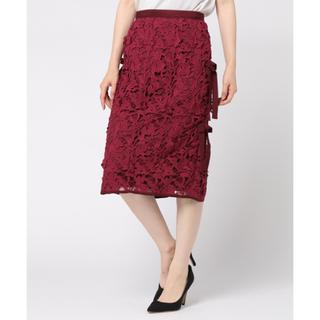 デイシー(deicy)のDEICY レースサイドリボンタイトスカート(ひざ丈スカート)