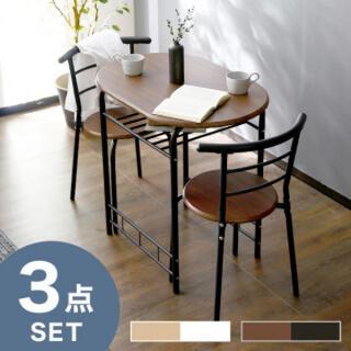 ダイニングテーブル ダイニング3点セット 2人掛け ダイニングテーブルセット(ダイニングテーブル)