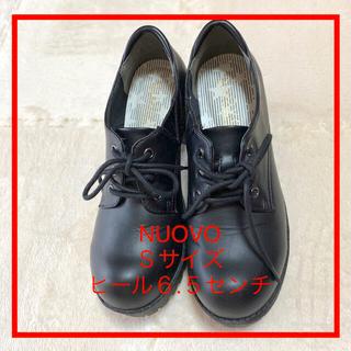 ヌォーボ(Nuovo)のNUOVO 黒 紐 靴【1/11値下げ】(その他)