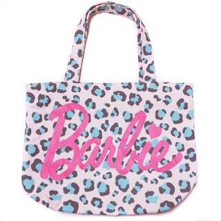 バービー(Barbie)のBarbie(バービー)ピンク ロゴ ヒョウ柄 トートバッグ 豹柄 レオパード(トートバッグ)