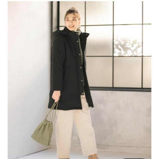 GLOBAL WORK(グローバルワーク)のグローバルワーク 美シルエットダウンコート ブラック レディースのジャケット/アウター(ダウンコート)の商品写真