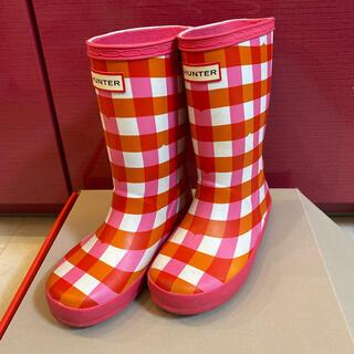 ハンター HUNTER キッズ 長靴 レインブーツ ピンク UK10 16cm