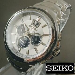 セイコー(SEIKO)の【新品】セイコー ビックデイト SEIKO ソーラー クォーツ メンズ腕時計(腕時計(アナログ))