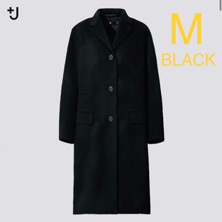 UNIQLO - ユニクロプラスJカシミヤブレンドチェスターコート新品Mブラック黒ジルサンダー