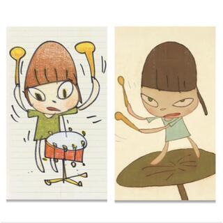 メディコムトイ(MEDICOM TOY)の奈良美智 ダラス現代美術館限定ポスター 2枚セット(版画)