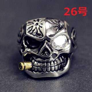 高級ジルコニア メキシカン スカル 髑髏 リング 指輪 26号(リング(指輪))