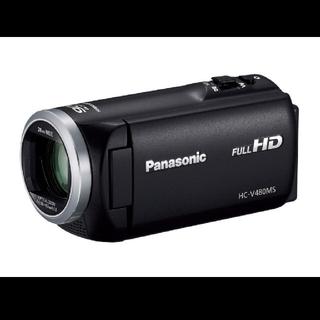 パナソニック(Panasonic)のPanasonic デジタルビデオカメラ【HC-V480MS-K】ブラック(ビデオカメラ)