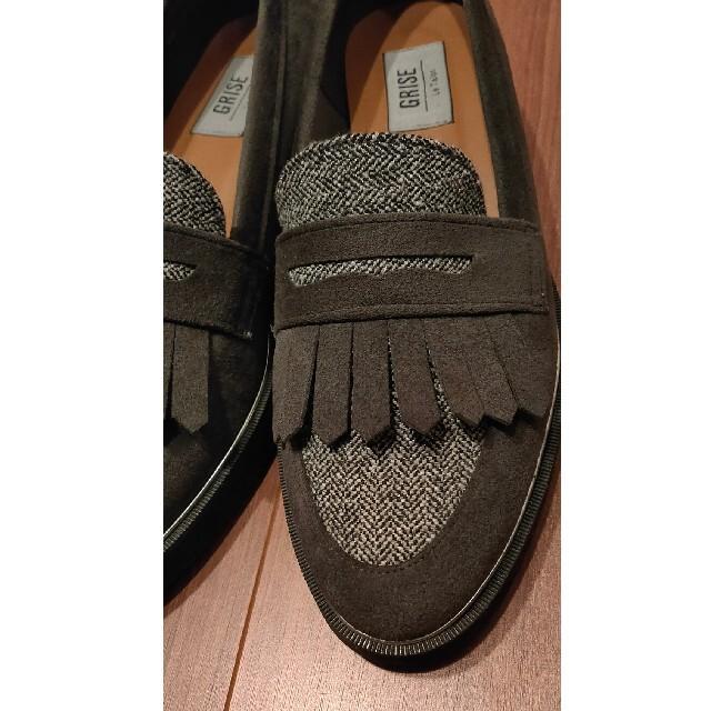 Le Talon(ルタロン)のルタロン ローファー 厚底 グレー オデット イエナ アルフレッドバニスター レディースの靴/シューズ(ローファー/革靴)の商品写真