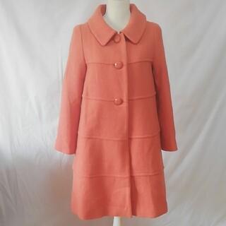 ストロベリーフィールズ(STRAWBERRY-FIELDS)の美品ストロベリーフィールズ、ウール混、大人可愛いいコート、サイズ記載なし。(ロングコート)