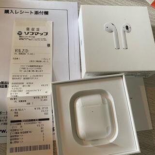 アップル(Apple)のAirPods2 ワイヤレス充電なし(ヘッドフォン/イヤフォン)