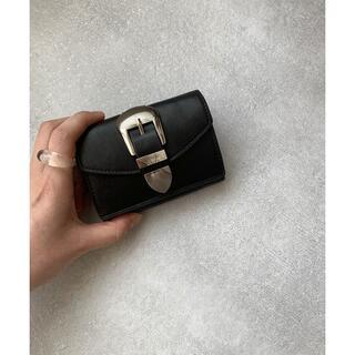 トゥデイフル(TODAYFUL)の新品CANALJEANウエスタンバックルウォレットブラック黒(財布)