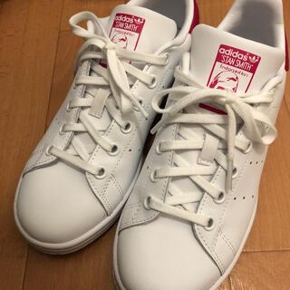 アディダス(adidas)のスタンスミス ピンク 白 ホワイト 22.5 22.5センチ アディダス(スニーカー)