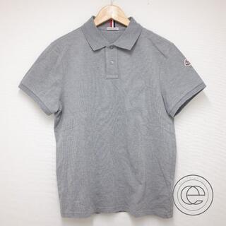 モンクレール(MONCLER)のモンクレール グレー アームロゴワッペン付き半袖ポロシャツM(ポロシャツ)