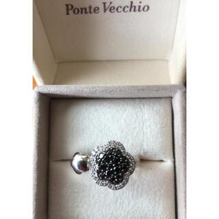 ポンテヴェキオ(PonteVecchio)のPonte Vecchio  ブラックダイヤ ダイヤ リング(リング(指輪))