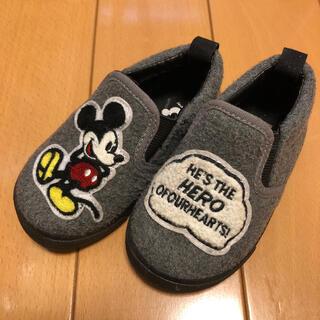 ディズニー(Disney)のミッキー 靴 スリッポン 13.5cm(スニーカー)