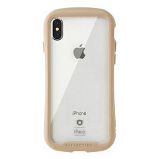 【送料込】iFace iPhoneX/XS専用 REFLECTION ベージュ(iPhoneケース)