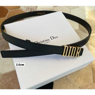 Dior - Dior ブラック ベルト 2.0cm