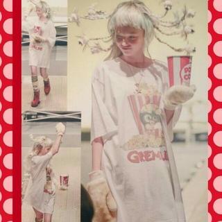 ミルクボーイ(MILKBOY)のgizmo popcorn  白 L(Tシャツ/カットソー(半袖/袖なし))