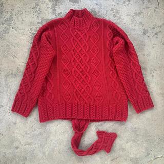 ロエベ(LOEWE)の美品 Loewe ロエベ ニット タートルネック S レッド しっぽ 赤(ニット/セーター)