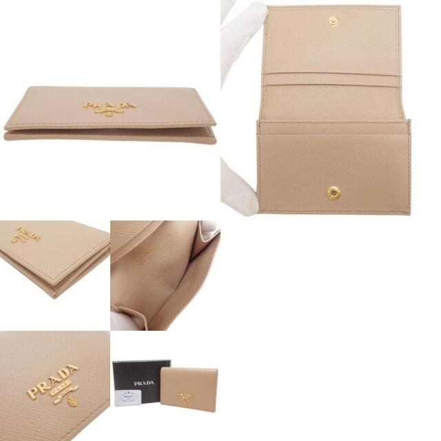 PRADA(プラダ)のプラダ カードケース サフィアーノ ベージュ 40800063718 レディースのファッション小物(名刺入れ/定期入れ)の商品写真