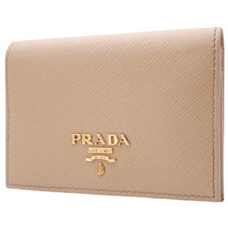 PRADA - プラダ カードケース サフィアーノ ベージュ 40800063718
