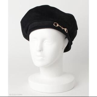 ウィゴー(WEGO)の新品未使用 WEGO ビット付きコーデュロイベレー帽(ハンチング/ベレー帽)
