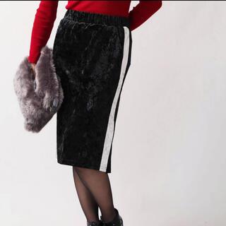ウィゴー(WEGO)の新品未使用 WEGO ベロアラインスカート(ひざ丈スカート)