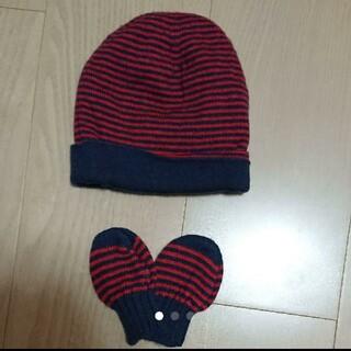 プチバトー(PETIT BATEAU)のプチバトーのニット帽と手袋(帽子)
