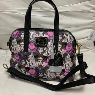 ディズニー(Disney)のディズニー ハンドバッグ ヴィランズ(ピンク&パープル)(ハンドバッグ)