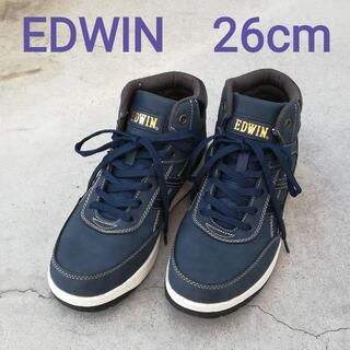エドウィン(EDWIN)のEDWIN エドウィン ハイカット スニーカー メンズ ネイビー 26(スニーカー)