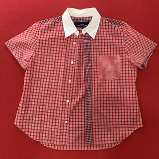 コムデギャルソン(COMME des GARCONS)のトリココムデギャルソン チェックシャツ(シャツ/ブラウス(半袖/袖なし))