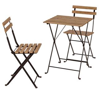 イケア(IKEA)の【美品】イケア テルノ ベランダテーブル&イス(テーブル/チェア)