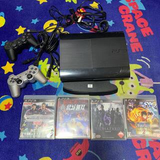 プレイステーション3(PlayStation3)のプレステ3 PS3 本体プラスソフト4点 美品 (家庭用ゲーム機本体)