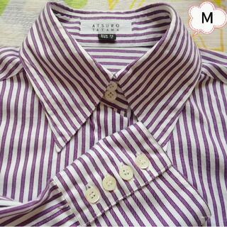 アツロウタヤマ(ATSURO TAYAMA)のATURO TAYAMA❇️シャツ ストライプシャツ Mサイズ(シャツ/ブラウス(長袖/七分))
