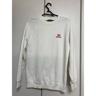 アディダス(adidas)のAdidasワンポイントロゴ長袖 Tシャツ 白 160cm(シャツ/ブラウス(長袖/七分))