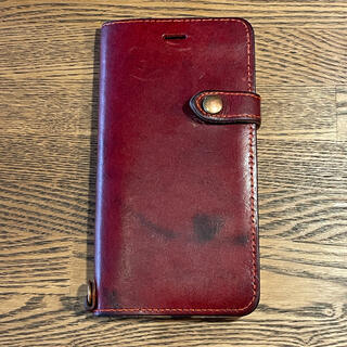トチギレザー(栃木レザー)のBellvo iPhone 8 plus 手帳型ケース 栃木レザー製(iPhoneケース)