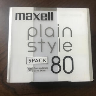 maxell - maxell  MD 80 5pack 未開封