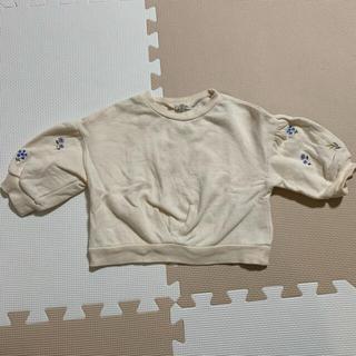 ニシマツヤ(西松屋)のバルーン袖裏起毛トレーナー 80(トレーナー)