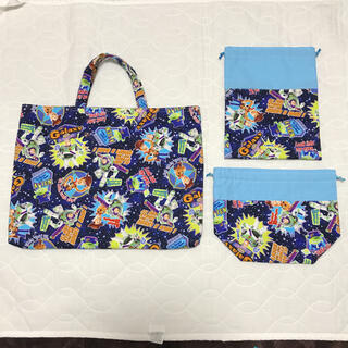 レッスンバック 巾着袋 お弁当袋 3点セット 入園 入学(バッグ/レッスンバッグ)