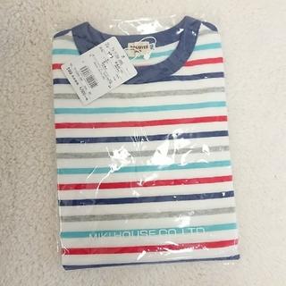 ホットビスケッツ(HOT BISCUITS)のかつ様専用 ホットビスケッツ ボーダーロンT 100 新品(Tシャツ/カットソー)