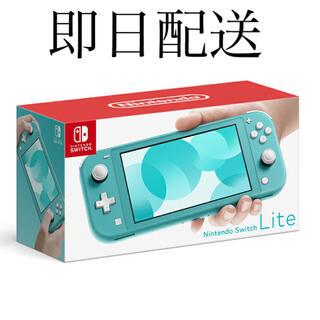ニンテンドースイッチ(Nintendo Switch)の新品 Nintendo ニンテンドースイッチ ターコイズ (携帯用ゲーム機本体)