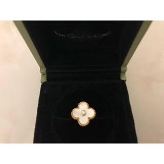 ヴァンクリーフアンドアーペル(Van Cleef & Arpels)のアルハンブラ クローバー リング 9号 美品(リング(指輪))